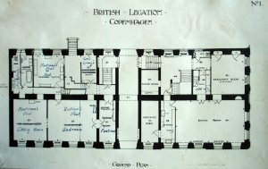 Residence ground floor plan, with flat occupying former chancery space (on left).