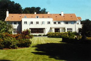 Garden front of Bernstorffshoj, 1990s.