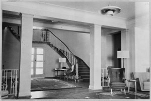 Entrance hall and stair.