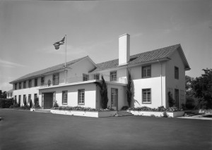 Entrance front to residence, 1965.