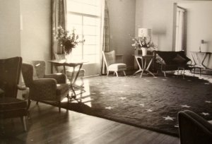 Reception area, 1964.
