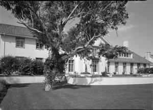 Garden front of residence, 1965.