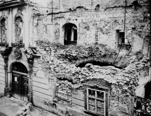 1945 damage to main facade.