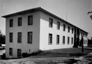 Entrance front of offices, completed 1953?