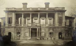 Main frontage of the Supreme Court in the consular compound at Shanghai. Behind the court rooms are the offices of both the Consulate and the Supreme Court. The building dates from 1871-3, when it was rebuilt by Robert Boyce after the fire of 1870.