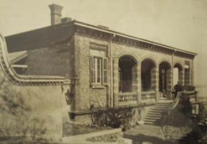 Consul's house and offices, built 1873, on the hill over-looking the Chinkiang concession area.