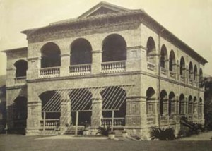 The consulate house in the grounds of the fort at Tamsui on Taiwan in about 1910. It was built in 1877 to Boyce's plans as a single storey: another was added in 1891.