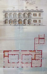 Marshall's drawing of the Pakhoi house, showing the simplicity of the plan.