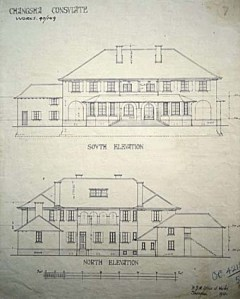 1910 drawing for the consul's house and offices at Changsha.