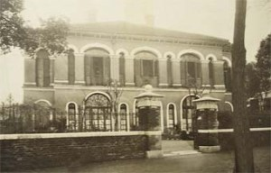 The consul's house at Kiukiang, seen from the Bund in about 1911.