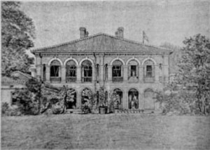 Drawing of the consul's house and office at Ichang, built by Marshall in 1892.