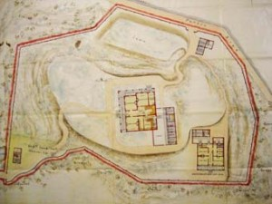Marshall's 1887 layout for the consular compound on a hill at Wuhu.