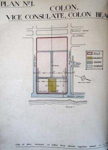 Site (in yellow) for Colon vice-consulate, 1934.