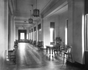 Principal veranda, 1930s.