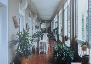 Second floor veranda, 1970s.