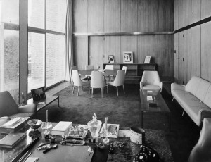The ambassador's study, 1960.
