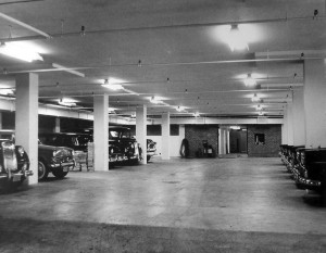 Garage for official cars, 1960.