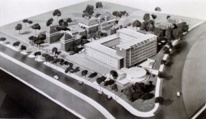 1956 model of the new offices.