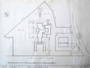 Site plan of the new offices on the newly acquired sites to the north of Lutyens' ensemble.