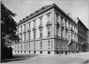 Embassy building, designed by Viktor Rumpelmayer and completed in 1875, on corner of Metternichstrasse and Jauresgasse.