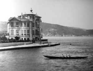 22. Tarabya. This splendid site was granted in 1847 and the house built in 1870. It burned down in 1911 and was never re-provided. After the embassy moved to Ankara, the site became a recreational amenity for Ankara staff.