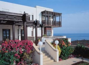 37. Muscat. On a rocky promontory just south of the city. The guest room balcony. Designed in-house by Andrew Slater.