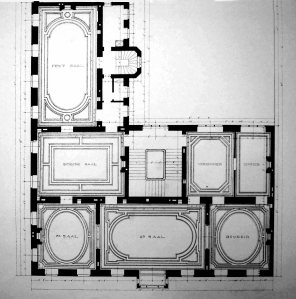Rumplemayer's first floor plan, 1873