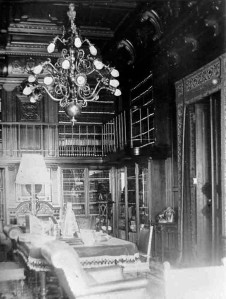 The library, c. 1903.