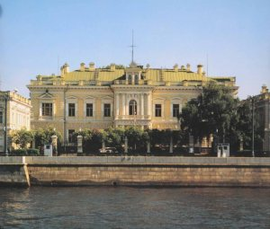 The embassy building on Sofiskaya, across the river from the Kremlin.