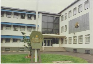 Entrance to Bonn offices, 1990s.