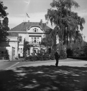 Ambassador's residence, Bonn, at 39 Heisterbachstrasse, 1952 (just before vacation by the American high commssioner.