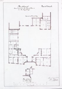 Albano's entresol (mezzanine) plan, 1852.
