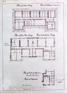 Albano's plans of second and attic floors, 1852.