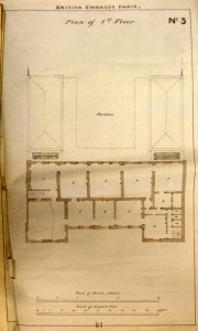 Albano's first floor plan, 1852.