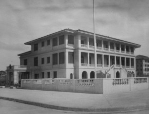 Residence, as completed 1926. Porte cochere on the left.