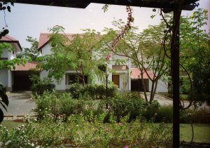 two semi-detached houses in the village, 1997.