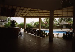 The amenity club and swimming pool in the village, 1997.