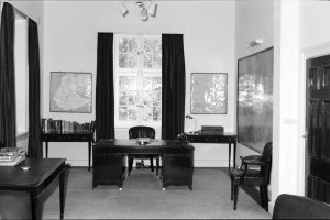 Ambassador's study in chancery offices, 1966.