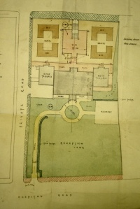 Plan of revised site, 1928.