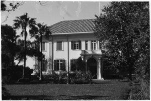 Garden front in 1966.