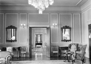 Looking from drawing room through to dining room, 1964.
