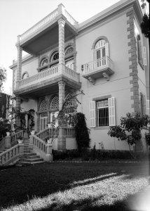 Former main entrance, 1964.