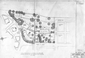 Siteplan for new offices, 1951.