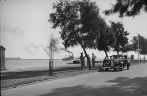 New road along the east bank of the Nile, 1954.