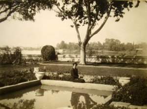 View across the Nile from the residence garden, 1930.
