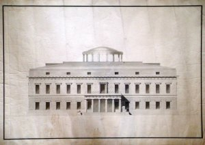 Balestro's design for the entrance front, 1802.