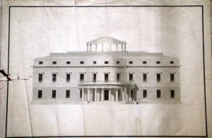 Balestra's design for the garden front, 1801.