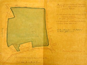 Lessels' siteplan, 1871.