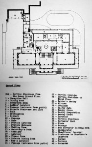 Ground floor plan as built, 1950.