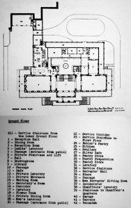 Ground floor plan as built, 1950.